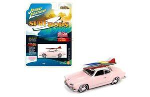 【送料無料】模型車 モデルカー スポーツカー カブリオレタイプギアピンクサーフジョニー64 vw karmann ghia pink surf 1964 **rr** johnny lightning mijo excl 164 ovp