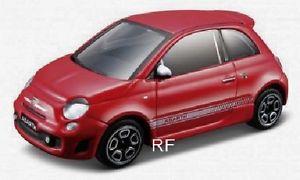 【送料無料】模型車 モデルカー スポーツカー モデルカーフィアットアバルトボックスbburago modellauto fiat abarth 500 rot 143 neu in ovp
