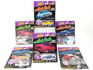 【送料無料】模型車 モデルカー スポーツカー ジョニーホットロッドロットjohnny lightning hot rods lot of 6 1 of 17,500  free shipping