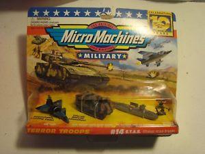 【送料無料】模型車 モデルカー スポーツカー マイクロマシンテロ#スタッフgaloob micro machines terror troops 14 stab military vehicles 1997 army war toy