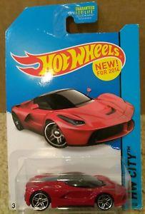 【送料無料】模型車 モデルカー スポーツカー ホットホイールフェラーリシティリリース2014 hot wheels red ferrari laferrari moc hw city 38250 1st release pr5