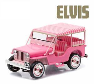 【送料無料】模型車 モデルカー スポーツカー ライトハリウッドエルビスプレスリージープピンクジープサリーgreenlight 143 hollywood elvis presley 1960 jeep surrey cj3b pink jeep