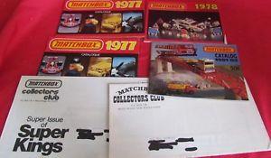 【送料無料】模型車 モデルカー スポーツカー ヴィンテージマッチカタログコレクタクラブロットlot of 4 vintage matchbox catalogs, 1977, 1978, 198182, 2 collectors club