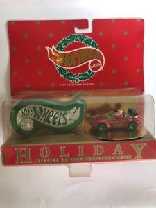 【送料無料】模型車 モデルカー スポーツカー hot wheels 1996 holiday special edition collector case 911 porsche red
