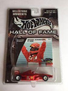 【送料無料】模型車 モデルカー スポーツカー マイルストーンミハエルシューマッハーホットホイールホールhot wheels hall of fame milestone moments michael schumacher f1 king, b88