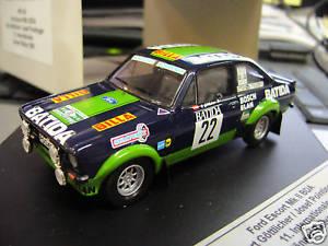 【送料無料】模型車 モデルカー スポーツカー フォードラリーエスコート#ford escort mkii rs rallye jnner 1980 22 gttlicher batida trofeu scala 143