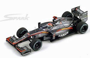 【送料無料】模型車 モデルカー スポーツカー スパークモデルカースケールベルギーspark s3011 hrt f110 f1 model car sakonyamamoto belgium gp 2010 143rd scale