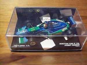 【送料無料】模型車 モデルカー スポーツカー ベネトンフォードジョニーハーバートマイルドセブンデカール143 benetton ford b194 1994 johnny herbert mild seven decals