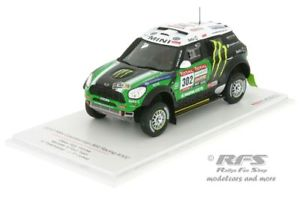 【送料無料】模型車 モデルカー スポーツカー ミニレースダカールラリーモデルmini countryman all4 racing rallye dakar 2012 peterhansel 143 tsm model