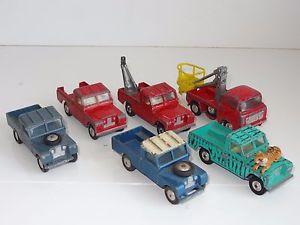 【送料無料】模型車 モデルカー スポーツカー ランドローバージープロットcorgi lot of 6 landrover jeep daktari