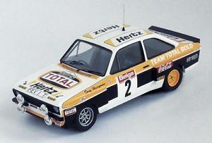 【送料無料】模型車 モデルカー スポーツカー フォードルピーマルコムウィルソンラリー143 trofeu ford mk2 escort rs 1800 total malcolm wilson haspengouw rally 1980