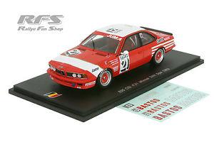 【送料無料】模型車 モデルカー スポーツカー スパチームタップスパークbmw 635 csi 24 hours of spa 1983 team bastos hahne 143 spark sb 064