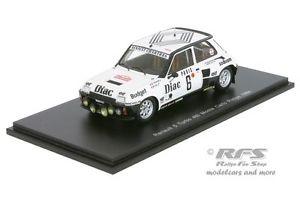 【送料無料】模型車 モデルカー スポーツカー ルノーターボモンテカルロラリーヘンリースパークrenault 5 turbo rallye monte carlo 1984 therier vial 143 spark 3861