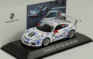 【送料無料】模型車 モデルカー スポーツカー ポルシェグアテマラカップルマン#2014 porsche 911 991 gt3 cup le mans 26 aiello 143 spark museum