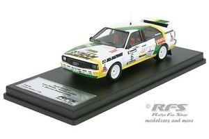 【送料無料】模型車 モデルカー スポーツカー アウディクワトロラリーレオパブリークaudi quattro a2 barum rallye 1986 erc em leo pavlik 143 trofeu rfs 021