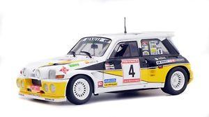 【送料無料】模型車 モデルカー スポーツカー ルノーマキシアストゥリアスミニチュアコレクションラリーrenault 5 maxi rally des asturias 1986 voiture miniature 118 collection solido