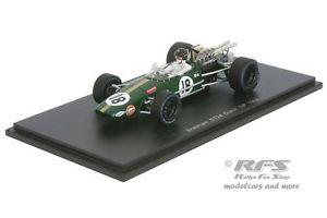 【送料無料】模型車 モデルカー スポーツカー ブラバムダンガーニーフォーミュラオランダスパークbrabham bt24 repco dan gurney formel 1 dutch gp 1968 143 spark 4779