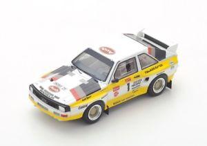 【送料無料】模型車 モデルカー スポーツカー アウディクワトロムートンパイクピークスパークppaudi quattro s1 1 mmouton winner pikes peak 1985 spark 143 43pp85