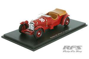 【送料無料】模型車 モデルカー スポーツカー アルファロメオロードハウルマンスパークalfa romeo 8c 2300lm lord howe winner 24h le mans 1931 143 spark 43lm31