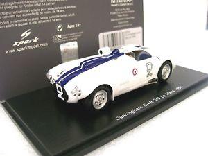 【送料無料】模型車 モデルカー スポーツカー スパークモデルカニンガムルマンジョンソン143 spark model s2727 cunningham c4r 3rd le mans 1954 nr 2 spearjohnson