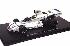 【送料無料】模型車 モデルカー スポーツカー ブラバムブラジルグランプリカルロスペーススパークモデルbrabham bt44 1st brazil gp 1975 carlos pace 143 spark s4345 resin model
