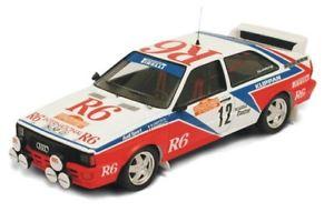 【送料無料】模型車 モデルカー スポーツカー アウディクワトロ#ラリーサンレモ#audi quattro 12 cinottoradaelli rally sanremo 1982 trofu 143 1616