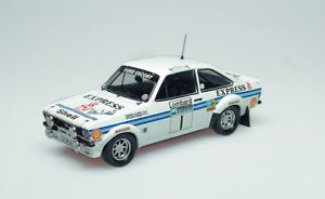 【送料無料】模型車 モデルカー スポーツカー フォードエスコートモデルラリーカーエクスプレスロジャークラークtrofeu 1018 ford escort mkii model rally car express 4th rac roger clark 143rd