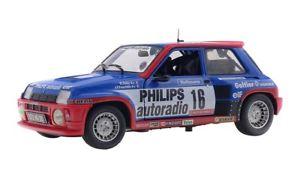 【送料無料】模型車 モデルカー スポーツカー ルノーターボ#ツールドコルスrenault 5 turbo grb 16 sabyfauchille tour de corse 1986 solido 118 4080