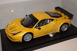 【送料無料】模型車 モデルカー スポーツカー イタリアフェラーリグアテマラホットホイールferrari 458 italia gt2 gelb118 hot wheels neu amp; ovp bcj78