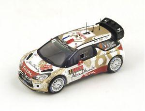 【送料無料】模型車 モデルカー スポーツカー ラリーモンテカルロ#ローブエレナcitron ds3 wrc 4 loebelena rally monte carlo 2015 spark 143 s4504