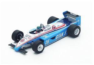 【送料無料】模型車 モデルカー スポーツカー #ラフィートモナコスパークligier js19 26 jlaffite gpmonaco 1982 spark 143 s4817