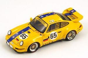 【送料無料】模型車 モデルカー スポーツカー ポルシェカレラ#ルマンスパークporsche 911 carrera rsr 65 wlazikrichter le mans 1993 spark 143 s2076