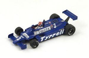 【送料無料】模型車 モデルカー スポーツカー ティレル#チーバーモナコグランプリスパークtyrrell 010 3 echeever 5th gp monaco 1981 spark 143 s4319