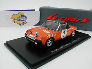 【送料無料】模型車 モデルカー スポーツカー スパークポルシェモンテカルロラリーspark s5582 porsche 9146 nr 7 3rd monte carlo rally 1971 waldegaard 143 neu