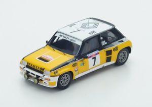 【送料無料】模型車 モデルカー スポーツカー ルノーターボ#ツールドコルススパークrenault 5 turbo 7 ragnottiandrie winner tour de corse 1982spark 143s3862