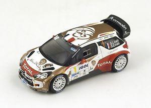 【送料無料】模型車 モデルカー スポーツカー ラリー#ローブスパークcitron ds3 wrc 1 sloeb winner rallye du var 2014 spark 143 sf081