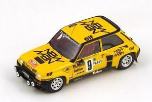 【送料無料】模型車 モデルカー スポーツカー ルノーターボ#サビーラリーモンテカルロスパークrenault 5 turbo 9 sabysappey rally monte carlo 1982 spark 143 s3854