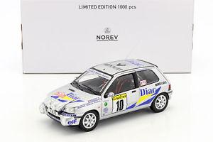 【送料無料】模型車 モデルカー スポーツカー ルノークリオウィリアムズ#モンテカルロラリーrenault clio williams 10 rallye monte carlo 1994 ragnotti, thimonier 118 norev