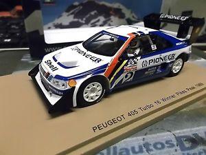 【送料無料】模型車 モデルカー スポーツカー プジョーラリーパイクスピークヒルクライム#peugeot 405 t16 winner pikes peak rallye hillclimb 2 unser win spark resi 143