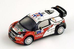 【送料無料】模型車 モデルカー スポーツカー ラリーメキシコ#ソルベルグパターソンcitron ds3 wrc 11 solbergpatterson rally mexico 2011 spark 143 s3304