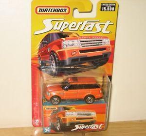 【送料無料】模型車 モデルカー スポーツカー マッチ#レンジローバースポーツオレンジmatchbox 60th amp; 2006 54 range rover sport orange x 3