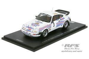【送料無料】模型車 モデルカー スポーツカー ポルシェターボザールラントラリーマンフレートヒーロースパークporsche 930 911 turbo saarland rallye 1983 manfred hero 143 spark