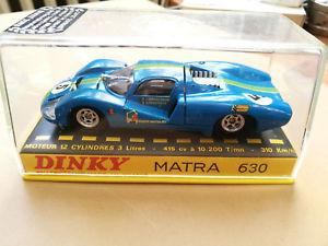 【送料無料】模型車 モデルカー スポーツカー ボックスヌオーヴォoriginale francese dinky toys 1425 matra 630 auto e perspex box quasi nuovo