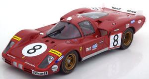 【送料無料】模型車 モデルカー スポーツカー フェラーリロングテール#ルマン118 cmr ferrari 512s long tail 8, 24h le mans merzarioregazzon 1970