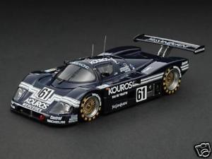 【送料無料】模型車 モデルカー スポーツカー メルセデスクーロス#ルマンsauber mercedes c9 kouros 61 le mans 1987 hpi 143 8053