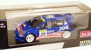 【送料無料】模型車 モデルカー スポーツカー プジョーラリーモンテカルロクラリオンペラ118 peugeot 206 wrc clarion rally monte carlo 2002 hrovanpera