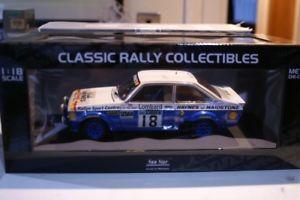 【送料無料】模型車 モデルカー スポーツカー サンスターフォードエスコートルピーラリースケールsunstar ford escort mk2 rs1800 rac rally 1979 4496r 118 scale