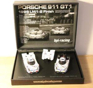 【送料無料】模型車 モデルカー スポーツカー ポルシェグアテマラ#セット#ルマンレーシングスパークrare set porsche 911 gt1 25 amp; 26 24h du mans 1998 hpi racing 143 no spark