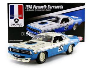 【送料無料】模型車 モデルカー スポーツカー プリマスバーダトランスアムクライスラーフランスacme 118 plymouth trans am barracuda 1970 chrysler of france 1806102