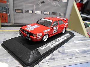 【送料無料】模型車 モデルカー スポーツカー アウディクワトロラリーサックス#audi quattro a2 rallye drm sachs winter 1986 30 schmidtke blaup umbau pma 143